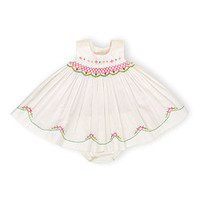 White & Pink Floral Dress & Bloomers   zulily