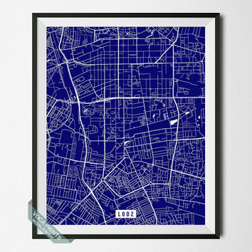 Lodz Print, Poland Poster, Lodz Poster, Poland Print, Łódź, Lodz Map, Poland, Street Map, Home Decor, Wall Art, Back To School