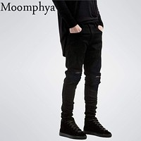 New Ripped Jeans With Holes / Super Skinny Designer Slim Fit Jean