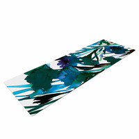 """Ebi Emporium """"Petal For Your Thoughts Teal"""" Turquoise Green Yoga Mat"""
