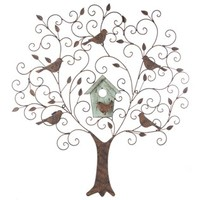 Large Metal & Wood Tree Wall Decor with Birds | Shop Hobby Lobby