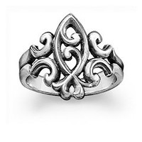Scrolled Ichthus Ring: James Avery
