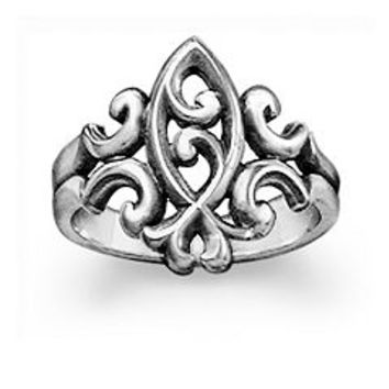 Scrolled Ichthus Ring | James Avery