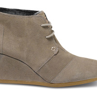 Taupe Suede Women's Desert Wedges US