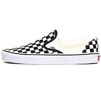 Classic Slip-On Women's Sneakers Black / White Checkerboard