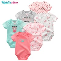 Newborn Photography Props 6PCS/lot Newborn Baby Girl Clothes Cotton Baby Bodysuit bebe Boys Clothes Body for Infants New 0-1Year