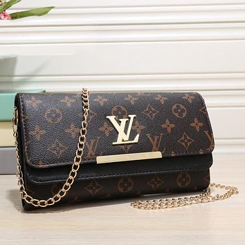 Louis Vuitton LV Fashion Lady Messenger Bag Mobile Phone Bag Cosmetic Bag