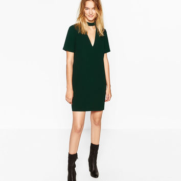 MINI DRESS WITH COLLAR DETAILDETAILS
