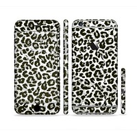 The Neutral Cheetah Print Vector V3 Sectioned Skin Series for the Apple iPhone 6 Plus