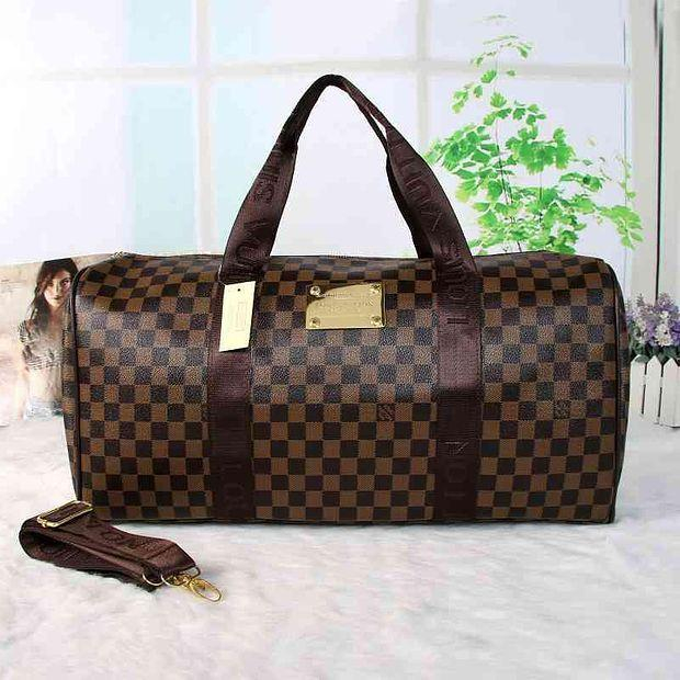 Image of Louis Vuitton LV Women Travel Bag Leather Luggage Travel Bags Tote Bag