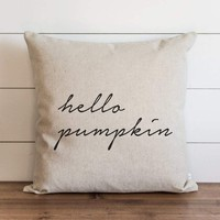 Fall Pillow Cover // Hello Pumpkin