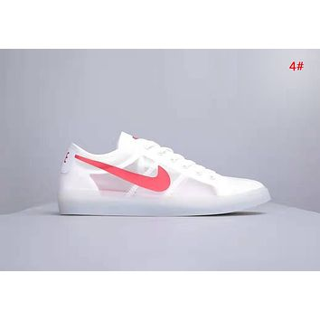 NIKE Blazer Low Fashion New Hook Print Women Men Sports Leisure Shoes 4#