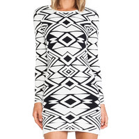 Parker Eve Knit Dress in White