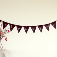 ChalkitUP  Chalkboard Bunting Flags, Create your own message Wedding decor, Reuseable Banner, Birthday fabric bunting, Christmas Decor flags