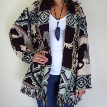 Native American Horse Blanket Wrap Sweater