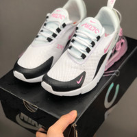 HCXX 19July 687 Nike Air Max 270 Printting Mesh Fashion Casual Running Shoes white black pink