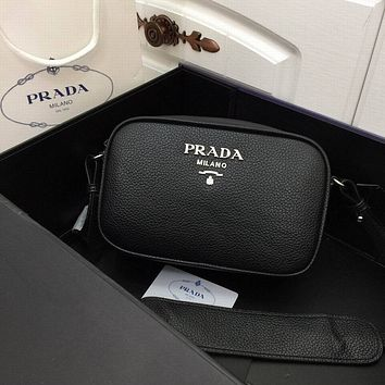 prada women leather shoulder bags satchel tote bag handbag shopping leather tote crossbody 166
