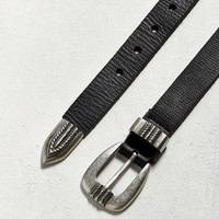 UO Metal Tipped Leather Belt - Urban Outfitters