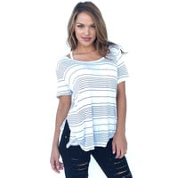 On A Mission Stripe Jersey Top
