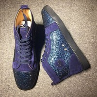 DCCK2 Cl Christian Louboutin Rhinestone Mid Strass Style #1912 Sneakers Fashion Shoes