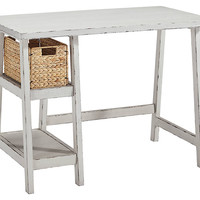 Mirimyn Home Office Small Desk - Antique White, Black or Teal