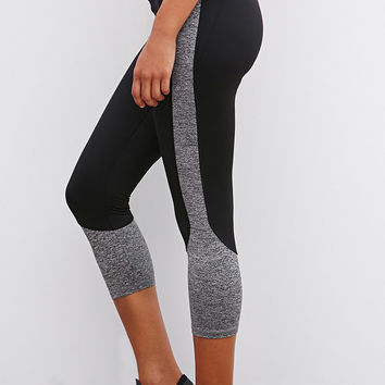 Colorblocked Athletic Capri Leggings