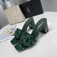 ysl women casual shoes boots fashionable casual leather women heels sandal shoes 125