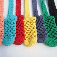 One Crochet Cotton Water Bottle Holder You Pick the Color
