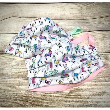 Party Llama Pattern Washable Face Mask - Protective Face Covering