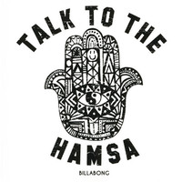 Billabong Talk To The Hamsa Sticker Black One Size For Women 25749210001