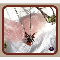 Scarlet Bubble Rider Necklace