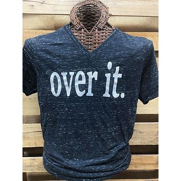 Southern Chics Apparel Over It Canvas Bright T Shirt