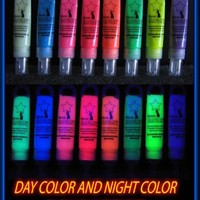 Single Tube of Next Generation SUPER Glow in the Dark Paint