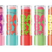 Maybelline New York Baby Lips Moisturizing Lip Balm Set, Electro, #70 Pink Shock, #75 Fierce N Tangy, #80 Berry Bomb, #85 Oh! Orange!, #90 Minty Sheer
