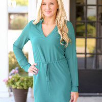 Dream Come True Tunic Dress - Forest Green