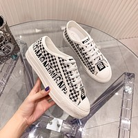 Dior embroidered canvas shoes