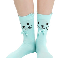 LOVEsick Sea Kitty Ankle Socks