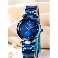 Dior 2019 new personality women's fashion wild quartz watch blue