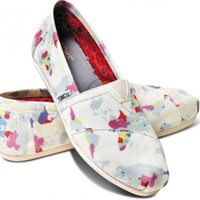TOMS Natural Earth Day Women's Classics Slip-on Shoes,
