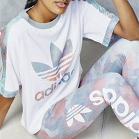 Buy adidas Originals White Training Cuffed Floral Tee from the Next UK online shop
