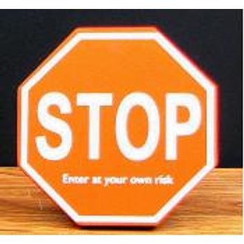 """""""STOP""""  Wood Cubical Sign"""