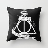 Together they make one Master of Death Throw Pillow by Mathijs Vissers   Society6