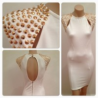 A Touch Of Rose Cocktail Dress - White | Style Me darling