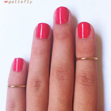 2 Above the Knuckle Gold Plated Rings set of 2