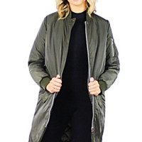Mandy Long Bomber Jacket