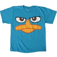Perry Platypus - Face - Phineas & Ferb Adult T-Shirt