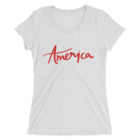 America Fitted Tee - Chelcey Tate Designs
