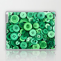 Button Green Laptop & iPad Skin by Alice Gosling