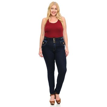 M.Michel Women's Jeans - Missy Size - High Waist - Push Up - Skinny - Style A10065