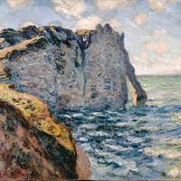Claude Monet The Cliff Of Aval Etr Tat